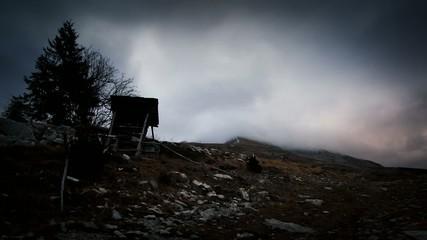 nubi in montagna - time lapse