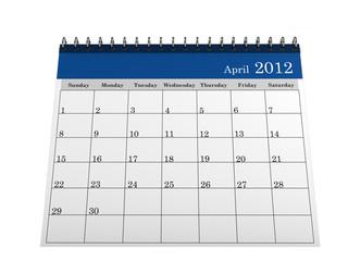 Calendar April 2012
