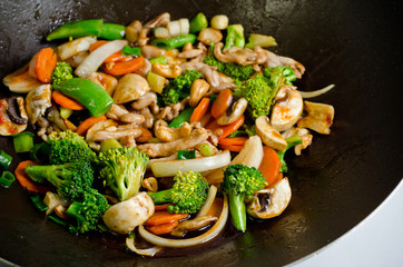 Delicious Chicken with cashewnuts.