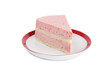 Piece of strawberry yoghurt cake