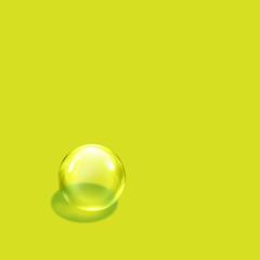bubble lime square