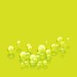 bubbles lime square