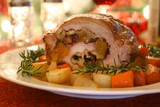 Pork Roast with Cranberry and Walnuts