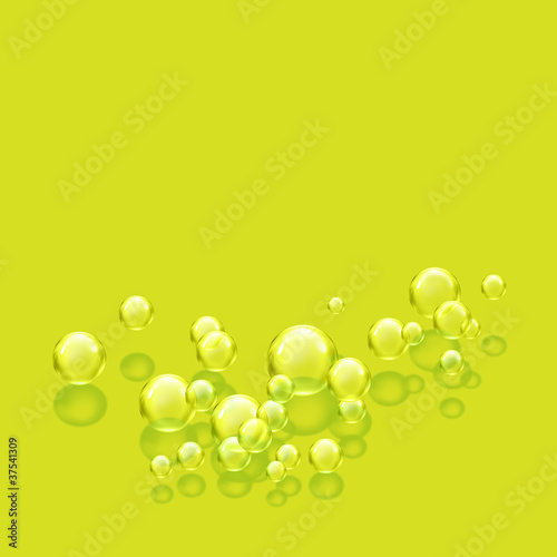 bubbles lime square