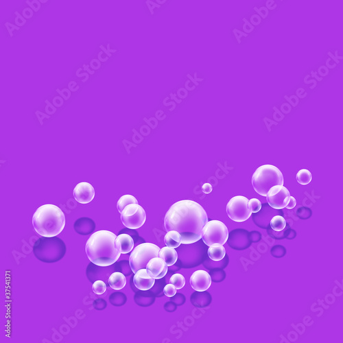 bubbles purple square