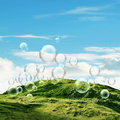 Rugged hill bubbles