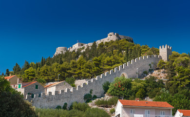 Ancient fortress at Hvar island (citadel), Croatia