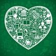 Background school heart