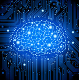 circuit  board brain background