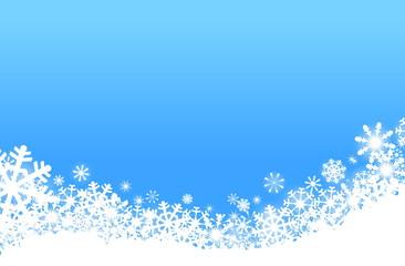 Schnee im hellblauen Htgr.