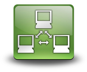 "Green 3D Effect Icon ""Network"""