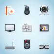 Computer peripherals icons