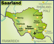Bundesland Saarland und Umgebung