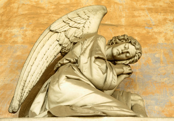 sleeping angel, sculpture