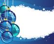Blue Christmas balls