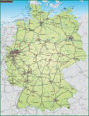 Deuschland mit Nachbarländern