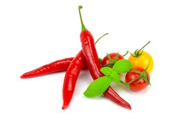 Tomaten und Chili