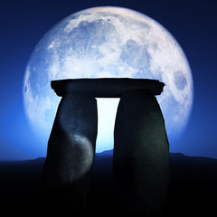 Megalith Monument Moonlit