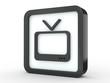 Button Fernseher schwarz