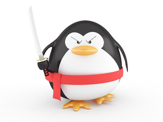Fat ninja penguin