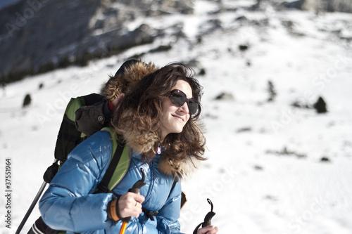 Randonneuse en Montagne