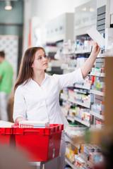 Female at drugstore