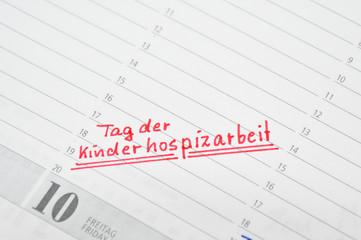 Tag der Kinderhospizarbeit im Kalender notiert