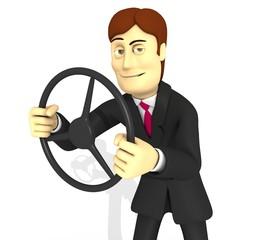 personaje con traje y volante2