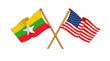America and Burma alliance and friendship