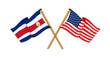 America and Costa Rica alliance and friendship