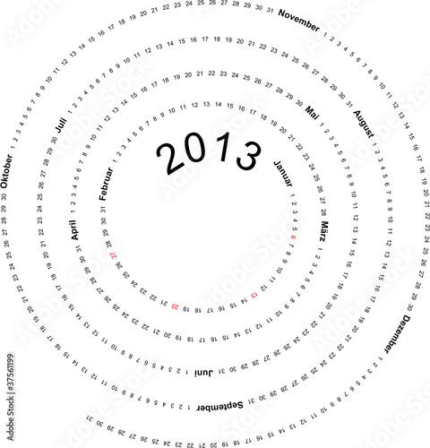 Kalender 2013, Spirale