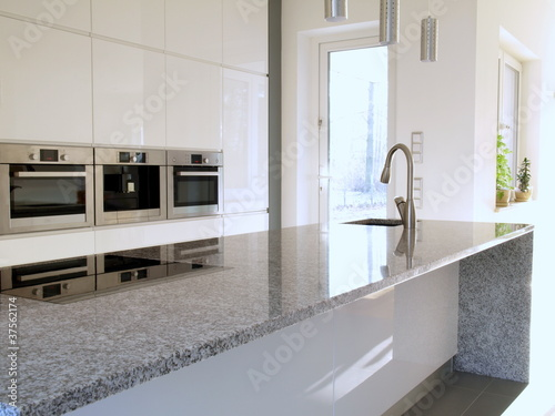 Granite countertop in a modern kitchen