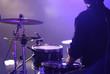 Leinwanddruck Bild - Schlagzeug live