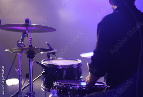 Leinwanddruck Bild Schlagzeug live