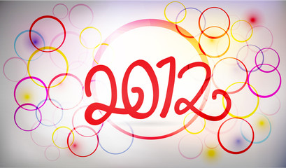 vector - 2012 happy new year background