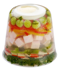 Ham and vegetable aspic