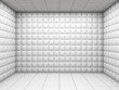 White empty padded room - 37564907