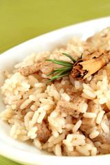 Rice with pork and cinnamon