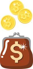 wallet - a symbol of money, wealth, prosperity