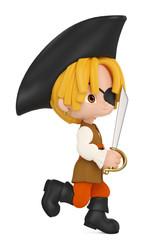 pirate boy attacking