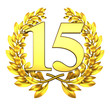 15 fifteen number laurel wreath