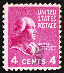 Postage stamp USA 1938 James Madison