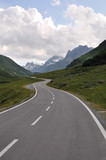 asphalt road in mountain poster