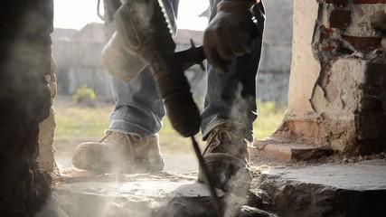 edilizia, martello pneumatico