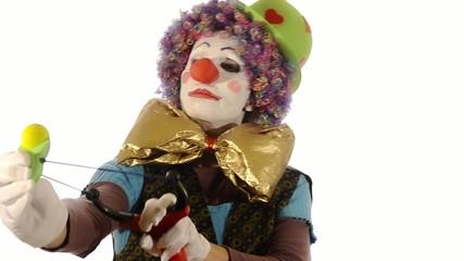 il clown e la fionda