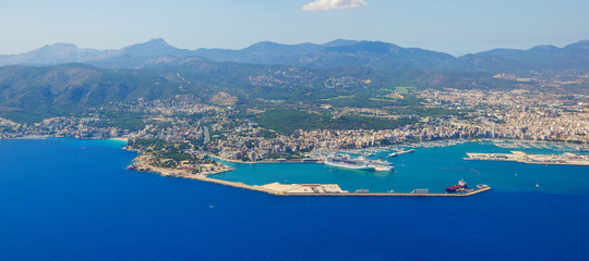 Bird's-eye view on the island Mallorca