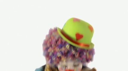 il clown e il carnevale