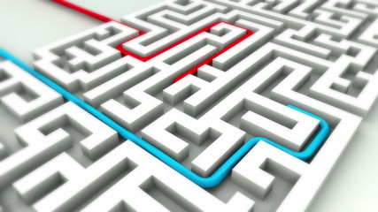Competition Success in business labyrinth