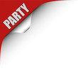 Seitenecke rot links PARTY