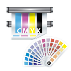 color print items; color chooser and printer